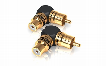 XS adapter RCA 90° angle S  2 Pieces