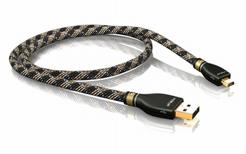 KR-2 Silver USB-Kabel 2.0 A/MINI-B  100 CM